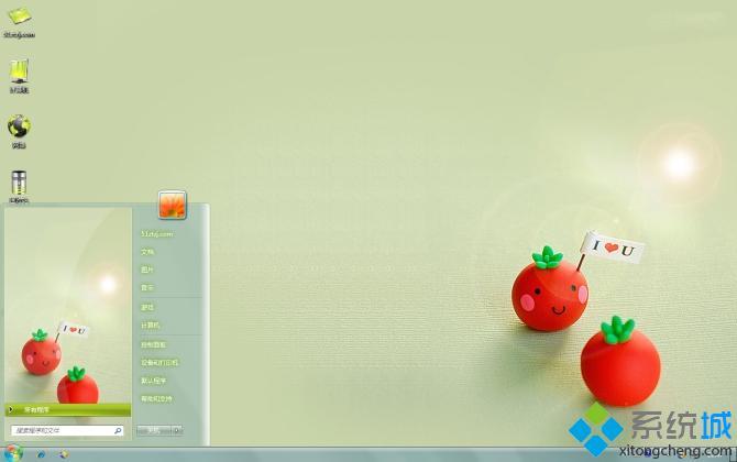 可爱小番茄win7桌面壁纸下载