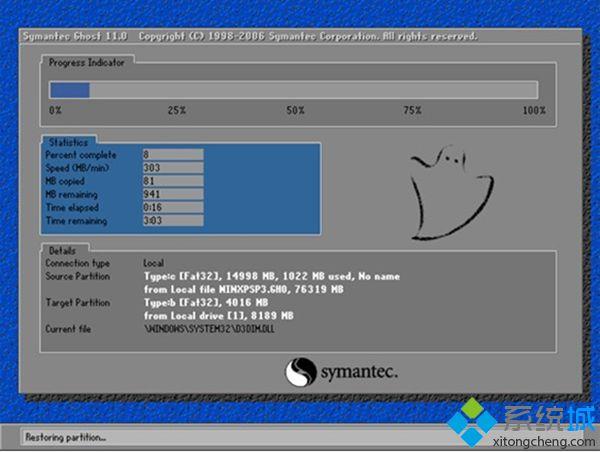 电脑公司GHOST_WIN7_SP1_X86专业精简版v2013安装界面