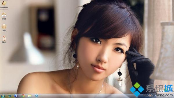 清新诱惑美女win7系统桌面主题下载